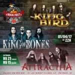 April Fool's Rock Fest: bandas King of Bones, Attractha e King Bird