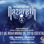 Nazareth: Ingressos à venda na Galeria do Rock e Ingresso Rápido