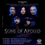 Sons Of Apollo: Turnê adiada para abril 2021